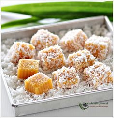 Sweet Potato Gems 甜番薯椰丝糕 | Anncoo Journal - Come for Quick and Easy Recipes