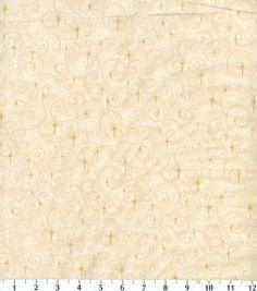 Holiday Inspirations Fabric-Mini Glitter Snowflake