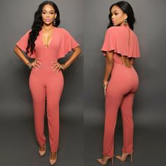 Flare Sleeve Jumpsuit - Hippie BLiss Fitted Jumpsuit bb97169c0db0