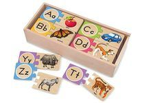 Melissa and Doug Alphabet Wooden Puzzle Cards