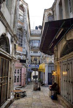 A quiet place . Jerusalem Old City. Christian Quarter