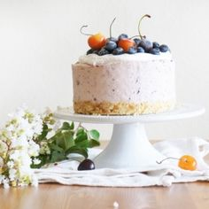 Cherry-Blueberry Summer Cheesecake - no bake and perfect for summer!