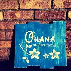 Ohana means family, Lilo and Stitch beach wall decor by MindyCreates on Etsy https://www.etsy.com/listing/449795044/ohana-means-family-lilo-and-stitch-beach