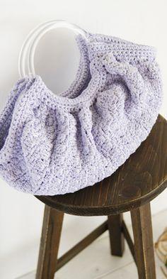 Crochet bag - free pattern in Japanese diagram.