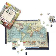 Jigsaw puzzles antique world map puzzles pinterest personalized world map jigsaw puzzle gumiabroncs Images