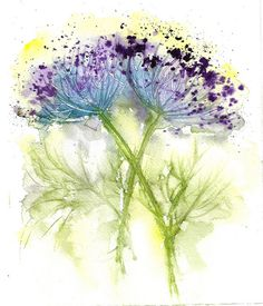 exquisite rendition of Queen Annes Lace - by Lin Frye