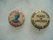 2 Woodrow Wilson Political Campaign Pin Badge Button No.9