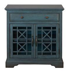 Craftsman Antique Looking Accent Chest | Antique Blue