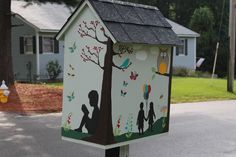 Amanda Zaman. Westford, MA. My husband built the box using the directions littlefreelibrary.org and I did the painting. We have two children who are VERY in love with books. I hope this little library will help maintain their love for books while also connecting them with our local community. My wish is that this will spark more connections and relationships with our wonderful Nabnasset neighbors while providing a chance to expand our reading horizons.