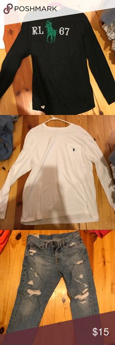 ** Name Brands for Cheap ** Brands include: Abercrombie and Fitch,  Ralph Lauren polo,  American Eagle, Under Armor, Guy Harvey and Tommy Hilfiger!! Abercrombie & Fitch Shirts Tees - Short Sleeve