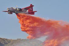 """(T-44) Lockheed SP-2V """"Neptune"""" (N1386C) Neptune Aviation Services Inc., Air Tanker - Bogart Fire - 6 June, 2014 (2)"""