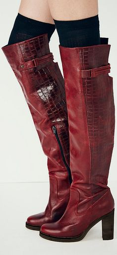 Cognac Over-The-Knee Boots