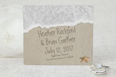 Beach I Love You in Sand - Save the Date Magnet by MagnetStreet