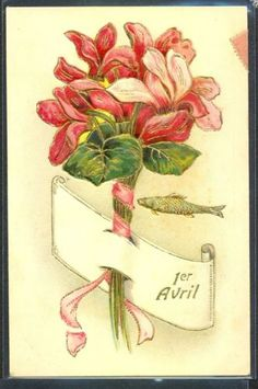 GY030-1er-AVRIL-APRIL-FOOLS-CYCLAMEN-DORURES-FANTAISIE-Gaufree-RELIEF