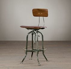 industrial bar stools and counter stools by Restoration Hardware