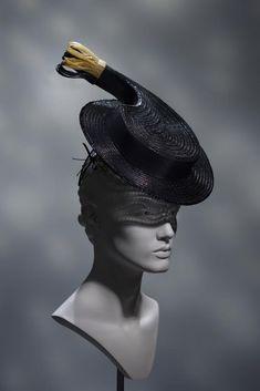 dinner with Schiap, Coco & Mae Suzy, Headdress, Headpiece, Visual Puns, Stephen Jones, Hats For Women, Ladies Hats, Elsa Schiaparelli, Dior Fashion