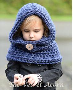GANCHILLO patrón capucha con capucha de clavo por Thevelvetacorn