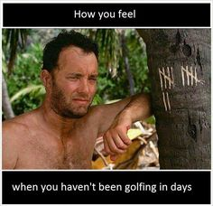 Hang in there! The weekend is well on it's way! | Rock Bottom Golf #RockBottomGolf