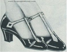 """The """"T"""" strap shoe style made its debut in the 1920's. This style added more support, making it the perfect option for dancing!"""