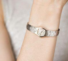 Cocktail wristwatch bracelet Caravelle women's watch