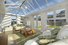 Create a perfect conservatory extension. Find small conservatory ideas and modern conservatory inspiration on our website. Contact us for conservatory prices. Glass Conservatory Roof, Conservatory Prices, Orangery Roof, Modern Conservatory, Orangery Conservatory, Diy Design, Interior Design, Build A Greenhouse, Roof Lantern