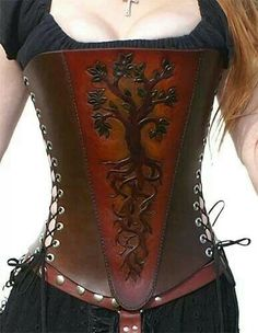 Tree of life corset. www.browncowart.com