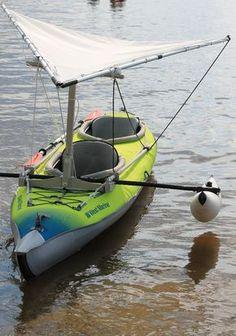 Inflatable Kayak With Dog Inflatable Kayak as Crab Claw Trimaran Kayaking With Dogs, Kayaking Tips, Sailing Kayak, Kayak Boats, Canoe Camping, Canoe And Kayak, Camping List, Kayak Bass Fishing, Fishing Boats