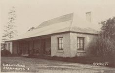 "John Mcarthur's original homestead at Elizabeth Farm was a four-room cottage plus kitchen, servants' quarters and outbuildings. Macarthur was Australia's first ""gentleman farmer"" At Elizabeth Farm he was the first in the colony to clear and cultivate fifty acres (20 ha) of virgin land. The farm sold produce to the colonial government."