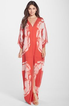 Halston+Heritage+Print+Silk+Georgette+Caftan+available+at+#Nordstrom