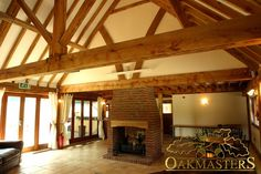 Corporate entertainment suite in Sussex - Oakmasters Oak Frame House, Corporate Entertainment, Roof Structure, House Extensions, Beams, Restoration, Vaulted Ceilings, Extension Ideas, Homes