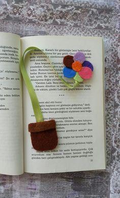 Saksılı çiçek  #bookmark #felt #flower #kitapayrac #sweet #Turkey