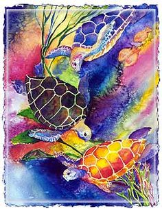 Love these colorful turtles