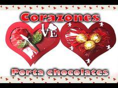 Corazón porta chocolates de cartulina | San Valentín | DIY