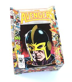 Vintage Avengers comic book collage cigar box  #avengers #comics #vintage #handmade