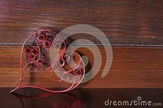 Heart of quilling paper stock image. Image of love, romance - 137526877 Wooden Background, Love Images, Quilling, Washer Necklace, Romance, Abstract, Heart, Paper, Bedspreads