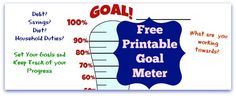 Free Goal Meter Printable and great article on how setting small goals gives you bigger results