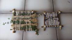 Väva med garn och kryddväxter