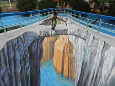 Interactive 3D Chalk Art Street Paintings by Tracy Lee Stum, art, chalk, painting, street art, street artists