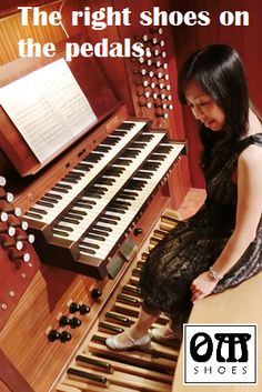 The right shoes on the pedals make a big difference in your playing the organ. #OrganMaster #OrganShoes #Organist