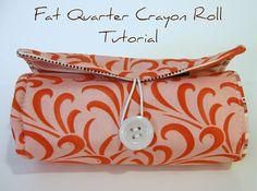 Fat Quarter Crayon Roll Tutorial