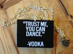 """Style with Mind necklace """"VODKA"""". www.magne.ie"""