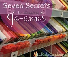 I've been a long-time shopper at Jo-Ann's.and there are definitely some secrets to shopping there! Here's what I've learned about getting the most for my money there! Saving Tips, Saving Money, Sewing Hacks, Sewing Projects, Sewing Class, Shopping Hacks, Bargain Shopping, Sewing Rooms, Fabric Shop
