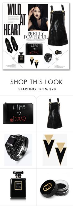 """""""LBD"""" by victoriav ❤ liked on Polyvore featuring Gucci, Versace, Yves Saint Laurent and Chanel"""