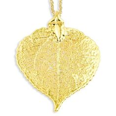 24k Gold Dipped Aspen Leaf W/ Gold-Plated Necklace – Sparkle & Jade