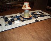 Blue And White Star Patchwork  Quilted Table Runner by CreationsbyWeezie on Etsy, $35.00 USD