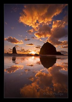 Vertical Cannon Beach Sunset  Astoria, Mount Hood, John Day National Monument, Painted Hills, Blue Basin, Crater Lake
