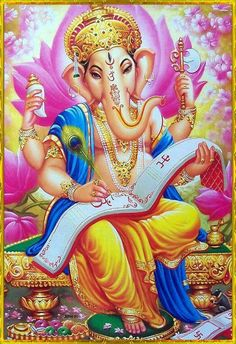 Hindu God of Wealth and Wisdom-Ganesha Lord Ganesha, Sri Ganesh, Om Gam Ganapataye Namaha, Lord Murugan Wallpapers, Ganesh Statue, Ganesha Pictures, Lord Shiva Family, Ganesha Painting, Ganesha Art