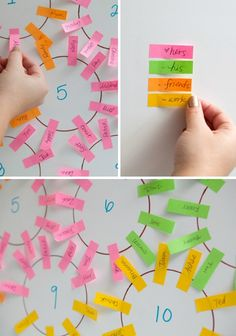 Seating Chart in Post-its on itsabrideslife.com/Wedding Seating Chart