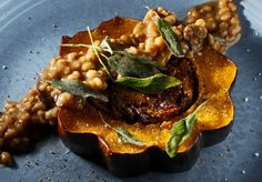 Favorite thanksgiving day meal.  Stuffing is amazing.  Now that im vegan. Can I veganize the stuffing?  Hope so.  Could top with this gravy or my chickpea gravy.  I've enjoyed both... The Chubby Vegetarian: Chanterelle + Apricot Stuffed Acorn Squash w/ Porcini Gravy & Fried Sage