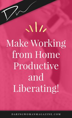 Make Working from Home Productive & Liberating Work from Home // Home Business // Self Employed // Small Business // Business // Working Mom // Working Mother // work from home jobs // work from home legit // work from home office // home office Online Entrepreneur, Business Entrepreneur, Business Tips, Online Business, Entrepreneur Ideas, Make Money Blogging, How To Make Money, Legit Work From Home, Business Organization